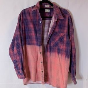 Urban Outfitters pink & purple flannel